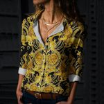 Baroque Cotton And Linen Casual Shirt CH220210