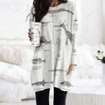 Weedy Seadragon, Shrimpfish Pocket Long Top Women Blouse KH220204