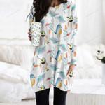 Birdwatching - Bird Pocket Long Top Women Blouse KH220206