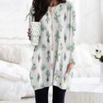 Succulents - Cactus - Cacti Pocket Long Top Women Blouse KH220207