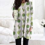 Succulents - Cactus - Cacti Pocket Long Top Women Blouse KH220215