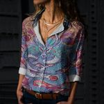 Dragon Cotton And Linen Casual Shirt CH220213