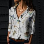 Herons Of North America Cotton And Linen Casual Shirt QA230208