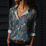 Jellyfish - Marine Life Cotton And Linen Casual Shirt KH230202
