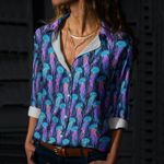 Jellyfish - Marine Life Cotton And Linen Casual Shirt KH230204