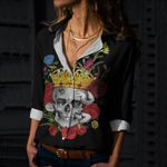 Skull Cotton And Linen Casual Shirt CH240201