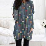 Jellyfish - Marine Life Pocket Long Top Women Blouse KH230202