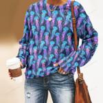 Jellyfish - Marine Life Unisex All Over Print Cotton Sweatshirt KH230204