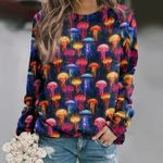 Jellyfish - Marine Life Unisex All Over Print Cotton Sweatshirt KH230205