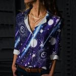 Solar System Cotton And Linen Casual Shirt QA240206