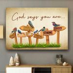 God Say You Are - Birdwatching - Birds Canvas Prints Type A KH240201