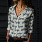 Bunny - Easter Cotton And Linen Casual Shirt KH240205