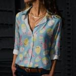 Bunny - Easter Cotton And Linen Casual Shirt KH240208