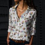 Dinosaur - Easter Cotton And Linen Casual Shirt KH240202