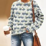 Bunny - Easter Unisex All Over Print Cotton Sweatshirt KH240205