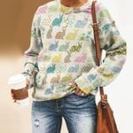 Bunny - Easter Unisex All Over Print Cotton Sweatshirt KH240206