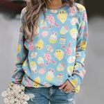 Bunny - Easter Unisex All Over Print Cotton Sweatshirt KH240208