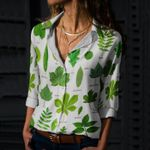 British Tree Leaves - Gardening Cotton And Linen Casual Shirt KH250201
