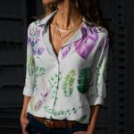 Tropical Leaves - Gardening Cotton And Linen Casual Shirt KH250203
