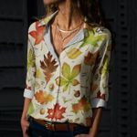 Autumn Leaf - Gardening Cotton And Linen Casual Shirt KH250212