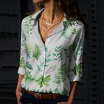 Tropical Leaves - Gardening Cotton And Linen Casual Shirt KH250213