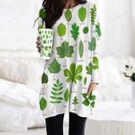 British Tree Leaves - Gardening Pocket Long Top Women Blouse KH250201