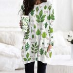 Leaves Of North American Trees - Gardening Pocket Long Top Women Blouse KH250206