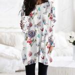 Butterflies - Insect Pocket Long Top Women Blouse KH250216