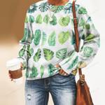 Tropical Leaves - Gardening Unisex All Over Print Cotton Sweatshirt KH250202