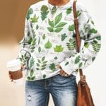Leaves Of North American Trees - Gardening Unisex All Over Print Cotton Sweatshirt KH250206