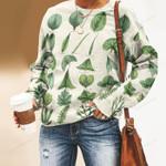 Leaves Of Plant - Gardening Unisex All Over Print Cotton Sweatshirt KH250209