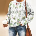 Meadow Flower - Gardening Unisex All Over Print Cotton Sweatshirt KH250210