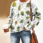 Woodland Tree - Gardening Unisex All Over Print Cotton Sweatshirt KH250211