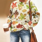 Autumn Leaf - Gardening Unisex All Over Print Cotton Sweatshirt KH250212