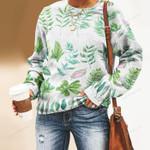 Tropical Leaves - Gardening Unisex All Over Print Cotton Sweatshirt KH250213