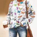Butterflies Unisex All Over Print Cotton Sweatshirt KH250214