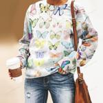 Butterflies Unisex All Over Print Cotton Sweatshirt KH250215