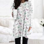 Butterflies - Insect Pocket Long Top Women Blouse KH260201
