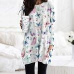 Butterflies - Insect Pocket Long Top Women Blouse KH260203