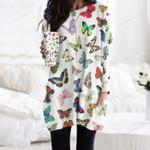 Butterflies - Insect Pocket Long Top Women Blouse KH260207