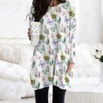 Butterflies - Insect Pocket Long Top Women Blouse KH260210