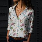 Chicken - Gardening Cotton And Linen Casual Shirt QA260210
