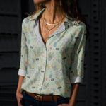 Gardening Tools Cotton And Linen Casual Shirt KH260222