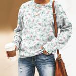 Butterflies And Flower Unisex All Over Print Cotton Sweatshirt KH260202