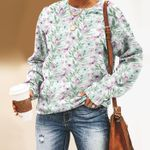 Butterflies And Flower Unisex All Over Print Cotton Sweatshirt KH260204