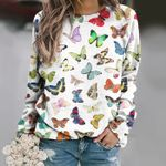 Butterflies - Insect Unisex All Over Print Cotton Sweatshirt KH260207