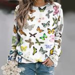 Butterflies - Insect Unisex All Over Print Cotton Sweatshirt KH260208
