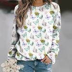 Butterfly - Insect Unisex All Over Print Cotton Sweatshirt KH260210