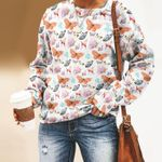 Butterfly - Insect Unisex All Over Print Cotton Sweatshirt KH260214