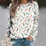 Rain Boot Unisex All Over Print Cotton Sweatshirt KH260224
